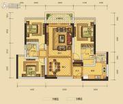 华晟豪庭三期3室2厅2卫110平方米户型图