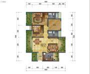 万象国际城2室2厅2卫110平方米户型图