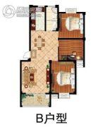 鹏润・格林上郡3室2厅1卫110平方米户型图