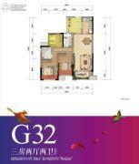 重庆万达城3室2厅2卫78平方米户型图
