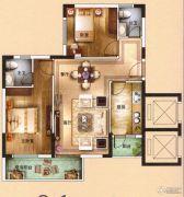 海泉湾2室2厅1卫89平方米户型图