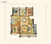黄岩中梁香缇公馆4室2厅3卫154平方米户型图
