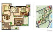 美景嘉园2室2厅1卫90平方米户型图