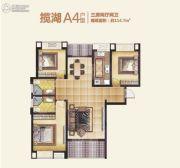 滨江澜泊湾3室2厅2卫114平方米户型图