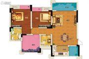 两江春城2室2厅2卫72平方米户型图