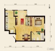 润枫领尚1室1厅1卫55平方米户型图