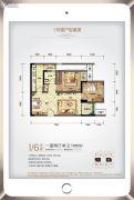 和泓江山国际1室2厅1卫0平方米户型图