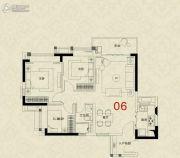 广州绿地城3室2厅1卫84平方米户型图