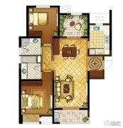 九龙仓时代上城2室2厅2卫136平方米户型图