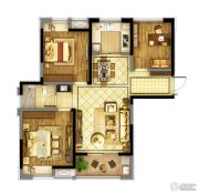 东方兰园3室2厅1卫106平方米户型图