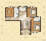 东方今典中央城3室2厅2卫135平方米户型图