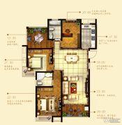 中铁诺德誉园3室2厅1卫130平方米户型图