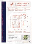 万科云岩大都会3室2厅2卫0平方米户型图