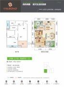 双悦SOHO2室2厅1卫83平方米户型图