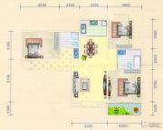 金色港湾3室2厅2卫125平方米户型图