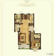 奥华蓝郡2室2厅2卫97平方米户型图