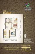 虹京国际3室2厅1卫104平方米户型图