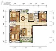 奥山世纪城3室2厅2卫135--138平方米户型图