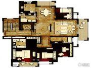 洛城中央御景4室2厅3卫196平方米户型图