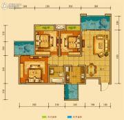 金鸿城三期归谷3室2厅1卫97平方米户型图