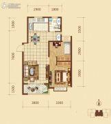 锦绣文华2室2厅1卫85平方米户型图