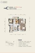 碧桂园太东公园上城3室2厅2卫0平方米户型图