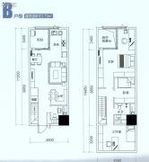 顺德绿地中心0室0厅0卫79平方米户型图