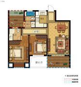 中建海西晓郡2室2厅2卫89平方米户型图