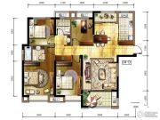 保利百合4室2厅2卫126平方米户型图