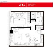 无锡恒大财富中心1室1厅1卫89平方米户型图