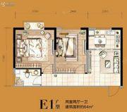 益华・御才湾2室2厅1卫64平方米户型图