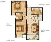 美盛白河湾2室2厅1卫0平方米户型图