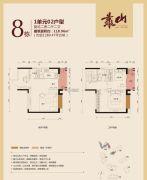 公园豪宅・靠山2室2厅2卫118平方米户型图
