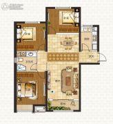 中海蓝湾3室2厅1卫110平方米户型图