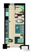 国瑞瑞城1室1厅1卫50平方米户型图