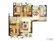 苏宁天御广场3室2厅1卫113平方米户型图