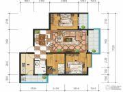 万裕・润园3室2厅1卫93平方米户型图