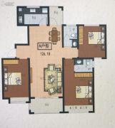 观湖御府3室2厅2卫0平方米户型图