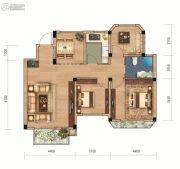联投国际城3室2厅1卫104平方米户型图