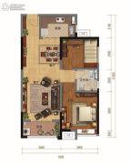 碧桂园・天汇2室2厅1卫92平方米户型图