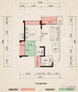 翰林府邸2室2厅1卫59--72平方米户型图