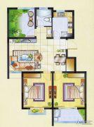 明瑞花园2室2厅0卫85平方米户型图