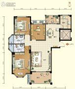 航宇・香格里拉3室2厅2卫127--129平方米户型图
