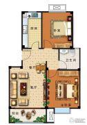 盛世康城四期・鑫园2室2厅1卫82平方米户型图