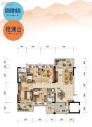 顺德碧桂园4室2厅2卫121平方米户型图