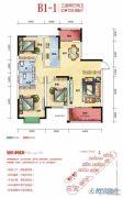 海湘城3室2厅2卫124平方米户型图
