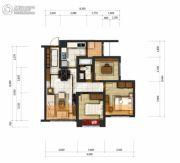成都乐天圣苑3室2厅1卫88平方米户型图