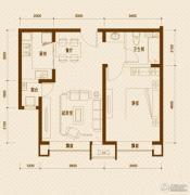 远洋城1室1厅1卫73平方米户型图
