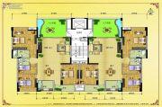 水岸花城4室2厅2卫142平方米户型图