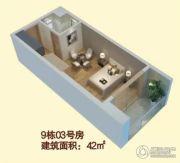 壹品湾1室0厅0卫42平方米户型图
